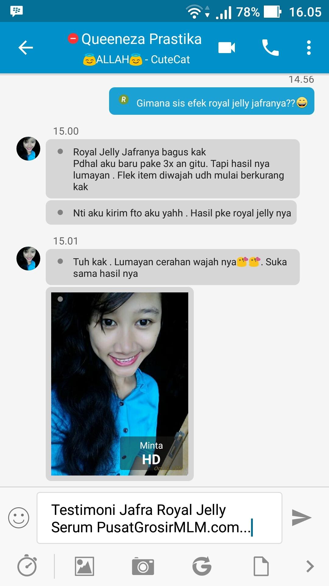 testimoni Jafra Royal Jelly Serum